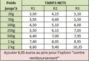 tarif contre remboursement